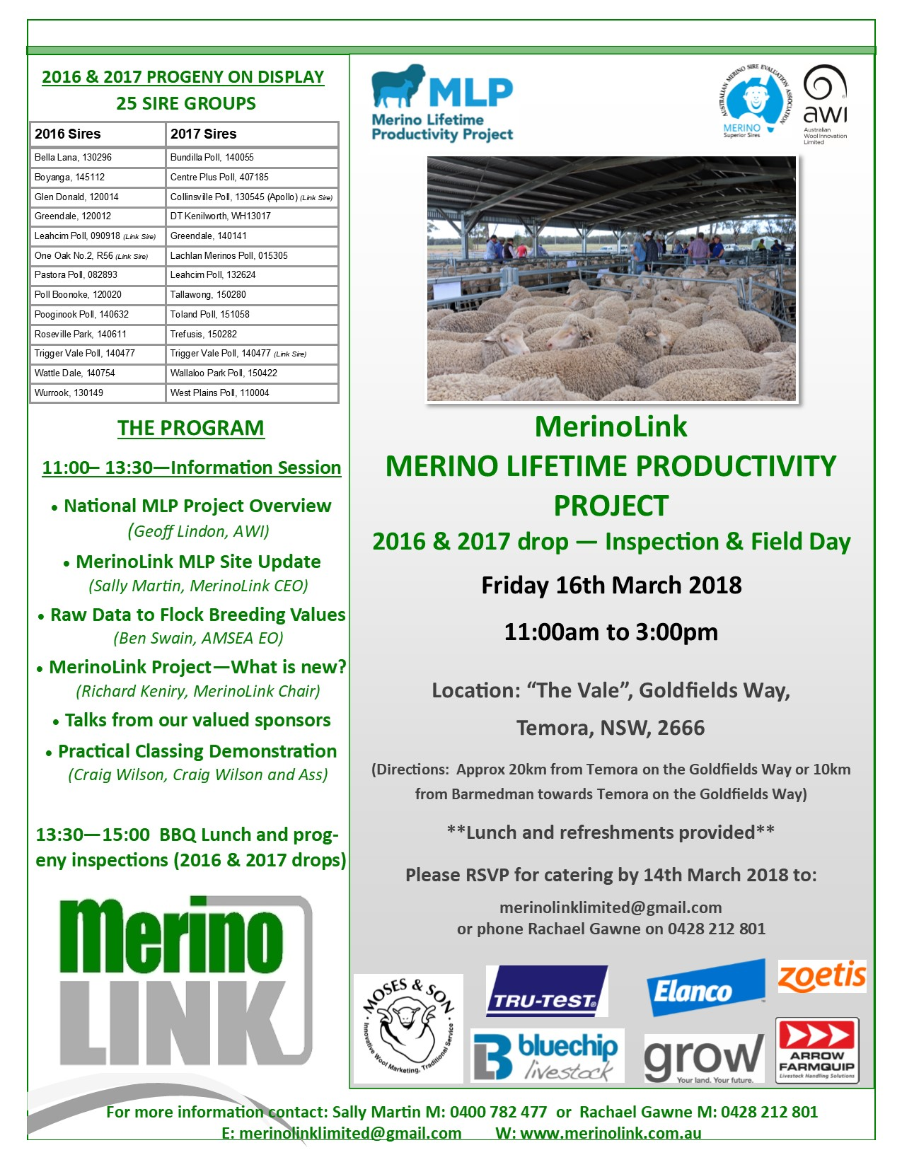 MerinoLink MLP Field Day - 16 March 2018