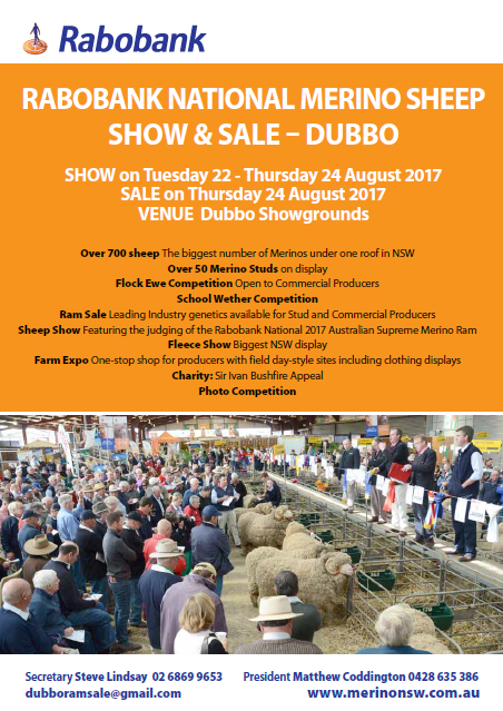 2017 Rabobank National Merino Sheep Show & Sale - Dubbo